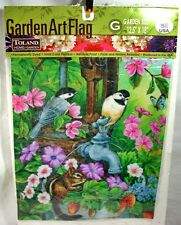 """Toland Home Garden 12.5"""" X 18"""" Art Flag Watering Time New Made In USA"""