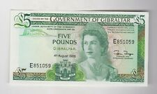 More details for b21b gibraltar £5 banknote 1988 in mint condition