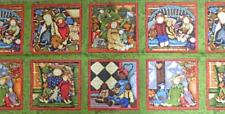 Patchwork Quilting Sewing Fabric Panel PRIMITIVE DOLLS SQUARE PRINT 30x110cm ...