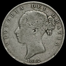 More details for 1882 queen victoria young head silver half crown