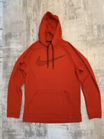 Nike Men's Essential Dri-Fit Swoosh Hoodie Size L Red AQ5249 657 NEW