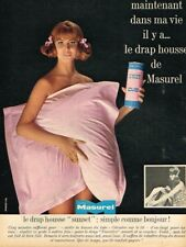 K- Publicité Advertising 1965 Linge de lit Draps Masurel