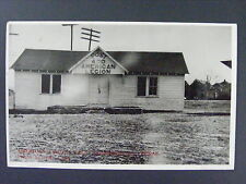 Farmersville Texas TX American Legion Hall Real Photo Postcard RPPC 1940s