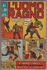 L' UOMO RAGNO corno # 4 L' INARRESTABILE UOMO SABBIA  originale 1970 dr. strange