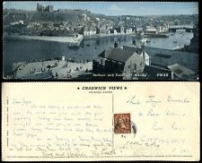 POSTAGE DUE GB 1958 PANORAMIC PPC WHITBY to COTTINGHAM YORKS