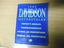 Harley-Davidson conductor mano libro 1994 owner's manual del propietario