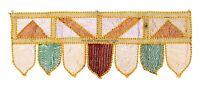 Vintage Indian Cotton Door Hanging Topper Window Embroidered Valance Toran Decor