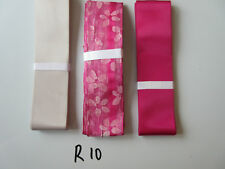 R10 Job Lot 3 Ribbons, Pale Silver Colour & Pink
