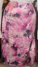 * JONES NEW YORK NWT $104 24W pink floral women's skirt pencil silk cotton black