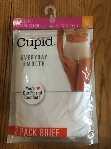 Cupid Everyday Smooth Two Pack Brief - Size M - White