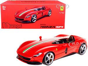 """FERRARI MONZA SP1 RED """"SIGNATURE SERIES"""" 1/18 DIECAST MODEL CAR BBURAGO 16909"""