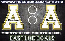 Appalachian State Mountaineers ASU Cornhole Decal 6 pc Set Football basketball