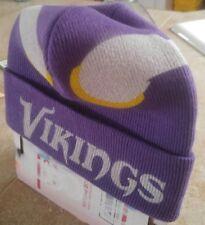 Minnesota Vikings Custom Airbrushed Beanie Horned Helmet Design Name NFL Purple