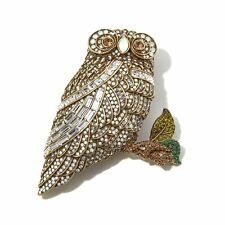 Heidi Daus Snowy Owl Crystal Pin DEAL OF A LIFETIME ABSOLUTELY BEAUTIFUL WOW!!