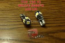2x T10 W5W 24V INDOOR ONLY 6000K LED LAMP LORRY TRUCK CAMION BOMBILLA POID LOURD