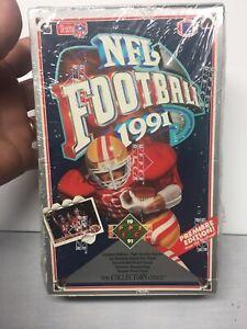 Vintage Sealed 1991 Upper deck Football Cards Box Rookie Star Joe Montana  NFL