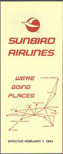 Sunbird Airlines system timetable 2/1/83 [7112]