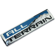 CHROME/BLUE ALL TERRAIN ENGINE RACE MOTOR SWAP BADGE FOR TRUNK HOOD DOOR A