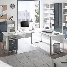 Winkelschreibtisch Office Lux Schreibtisch Kombination lichtgrau weiß 223x170 cm