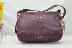 FAUX LEATHER - NEW - Jane Shilton Designer Shoulderbag Handbag - WINE RED