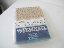 Webschatz  Bettwäsche Weiß - Braun blümchen 4 Teilig  Baumwolle True Vintage M32