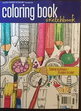 Cloth Paper Scissors Coloring Book Sketchbook Fall 2015 FREE SHIPPING!