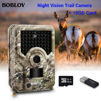 16GB 12MP Hunting Camera Night Vision 940NM IP56 Wide Angle Hunter Trail Camera