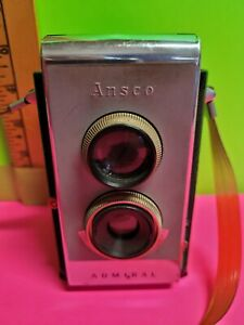 Ansco Admiral W/Ansco Case - Untested. 6x6 on 620. With instruction manual