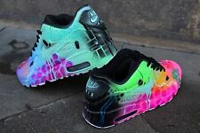 Custom Nike Air Max 90 Mint Pink Galaxy Sneaker Airbrush Graffiti