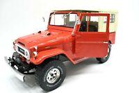 Miniature voiture auto 1:18 TRIPLE 9 Toyota Land Cruiser FJ40 Jeep diecast Red