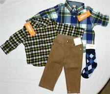 Pant Set Khaki Gymboree Corduroy 5pc Cotton Fall Winter Boy sz 6-12 month New
