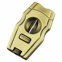 Cigar Cutter V -cut Stainless Steel Guillotine Gold Cut 62 Ring Gauge Cigarpunch