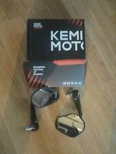 Kemimoto bar end mirror new e marked black FCBEM085BK