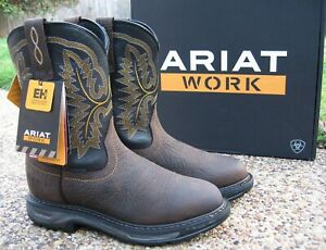 NEW Mens ARIAT Brown Leather WORKHOG XT H20 Waterproof Work Boots 10024961