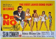 James Bond Dr No Sean Connery movie advertising Metal Sign Wall Plaque Art a4