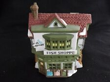 """Dept 56 Dickens Village """"The Mermaid Fish Shoppe"""" #5926-9 Retired Lighted Cord"""