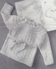 Knitting PATTERN to make Baby Toddler Sursplice Sacque Sweater Wraparound