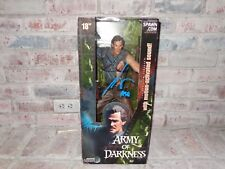 """Bruce Campbell Signed Ash 18"""" Action Figure Army Of Darkness Evil Dead McFarlane"""