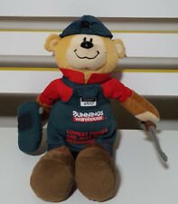 BRAD THE BUNNINGS BEAR COLLECTABLE WITH TOOLS SOFT TOY PLUSH TOY 28CM TALL!