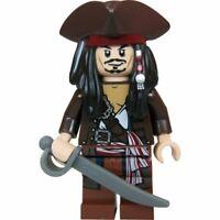 Genuine Lego  Pirates Of The Caribbean Captain Jack Sparrow Mini Figure poc011
