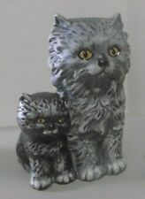Vintage 1975 Goebel Persian Cat & Kitten Figurine Mother's Series West Germany