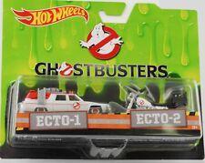 Ecto-1 Ghostbusters Cadillac 1:64 & Ecto 2 Bike 1:50 Hot Wheels Set DRW73