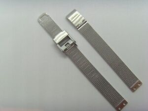 OBAKU Original Replacement Milanaise V167LXCIMC Watch Band Watch Strap Silver