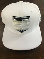 Los Angeles Kings New Adidas Snapback Hat Cap White Flat Brim Nhl Hockey