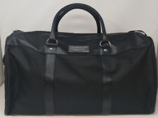Chrome Azzaro Black Large Fabric Travel Bag New