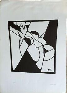 IVO Pannaggi arte futurismo litografia  P20   70X50 firmata numerata 100/100