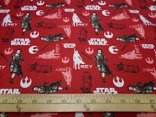 1 yard Camelot Star Wars The Force Awakens Rey Fabric