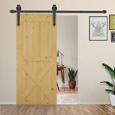 6FT Sliding Barn Wood Door Kits Carbon Steel  Hardware Closet Set Antique Style