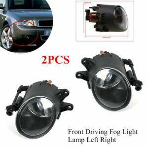 Pair Front Fog Light Lamp Clear Lens Replacement for Audi A4 B6 B7 8E0941700B