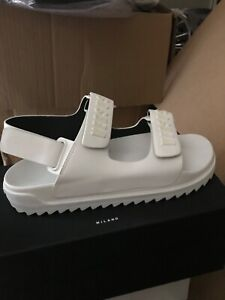 VERSUS VERSACE Mens White RUBBER SANDALS  with Logo  size 45 IT 12 US